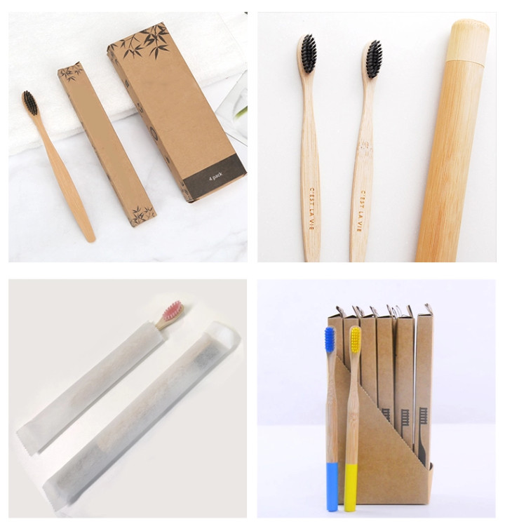 Fully Biodegradable charcoal Natural toothbrush bamboo