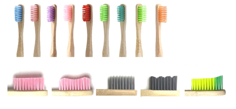 biodegradable charcoal natural bamboo wood handle toothbrush